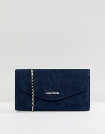 Lipsy Navy Clutch With Gold Detailing - Navy