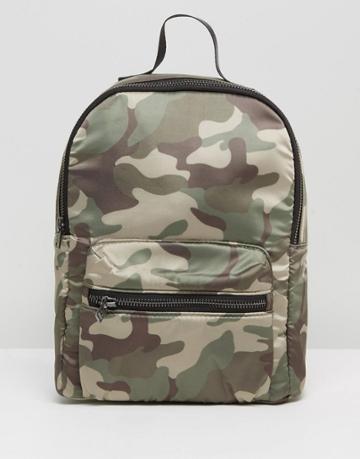 Hollister Camo Print Mini Backpack - Green
