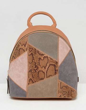 Asos Patchwork Backpack - Multi