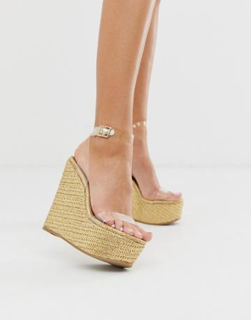 Asos Design Takeover Clear Wedges-gold