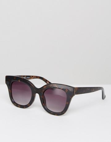 Pieces Square Tortoise Sunglasses - Black