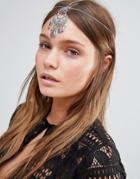 Designb London Festival Statement Headband - Silver