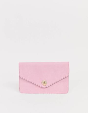 Asos Design Shell Clutch Bag - Pink