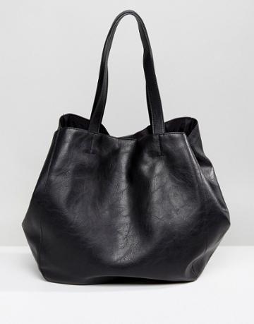 Pull & Bear Relaxed Shopper - Black