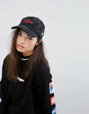 Hype X Coca Cola Cap In Black - Black