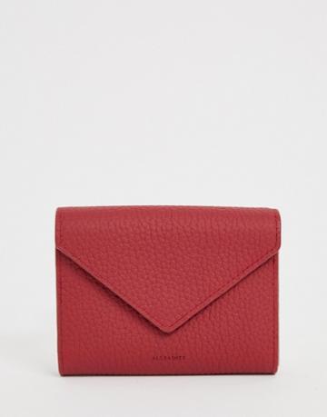 Allsaints Voltaire Card Purse - Red