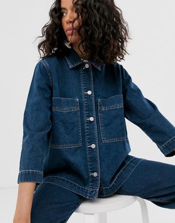 Weekday Denim Jacket Two-piece In Dream Blue - Blue