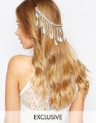 Olivia The Wolf Fringe Lace Hair Comb - Cream