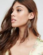 Asos Cut Out Filigree Earrings - Gold