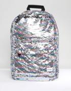 Spiral All Over Rainbow Sequin Backpack - Multi