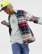 Tommy Jeans 6.0 Limited Capsule Large Check Shirt With Pocket Crest Logo In Multi - Navy