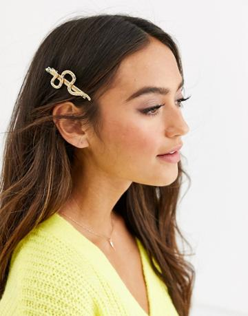 Pieces Snake Hair Clip In Gold - Gold