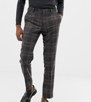 Heart & Dagger Slim Fit Wool Mix Suit Pants In Charcoal - Gray