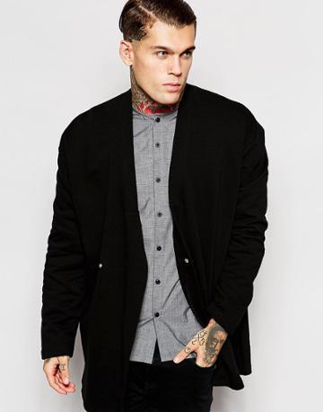 Asos Jersey Kimono - Black