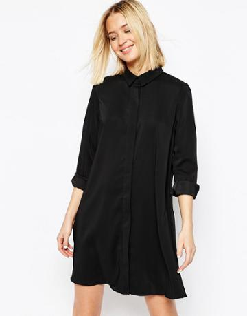 Asos Shirt Dress - Black