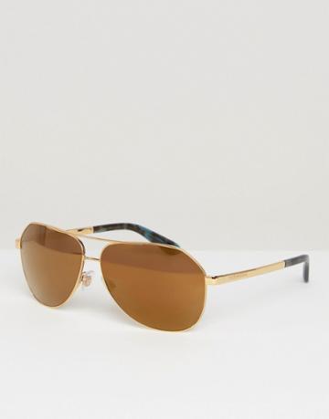 Dolce & Gabbana Aviator Sunglasses - Gold