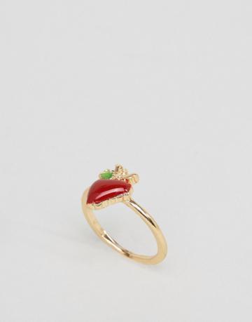 Asos Strawberry Ring - Red