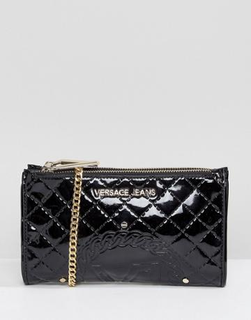 Versace Jeans Patent Crossbody Going Out Purse - Black