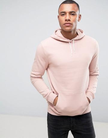 New Look Hoodie In Dusty Pink - Pink
