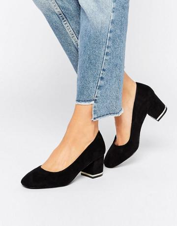 New Look Metal Block Heeled Shoe