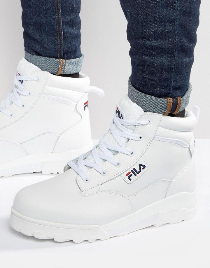 Fila Grunge Mid Laceup Boots - White