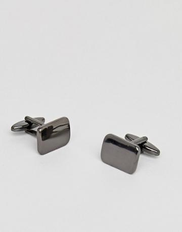 Icon Brand Rectangle Cufflinks In Silver - Silver