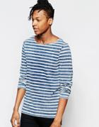 Asos Indigo Stripe Long Sleeve T-shirt