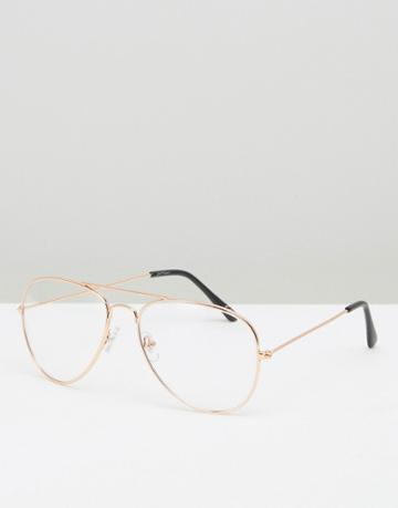 Jeepers Peepers Aviator Glasses - Gold