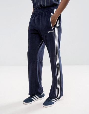Adidas Originals Osaka Velour Joggers In Navy Cv8960 - Navy