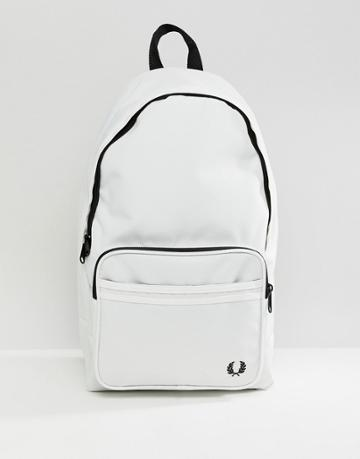 Fred Perry Twin Tipped Backpack In White - White