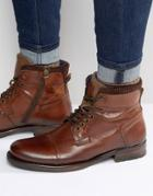 Dune Calabash Leather Boot - Brown