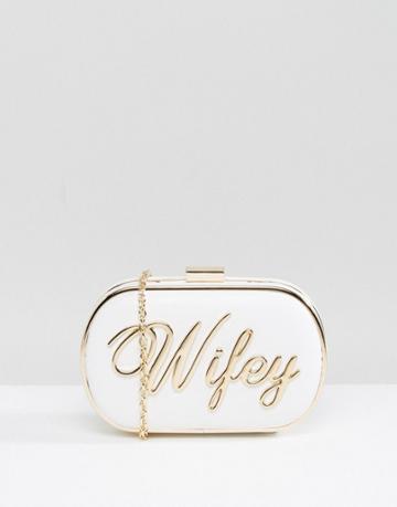 Aldo Wifey Clutch Bag - White