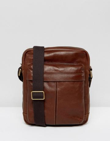 Fossil City Flight Bag In Leather - Brown