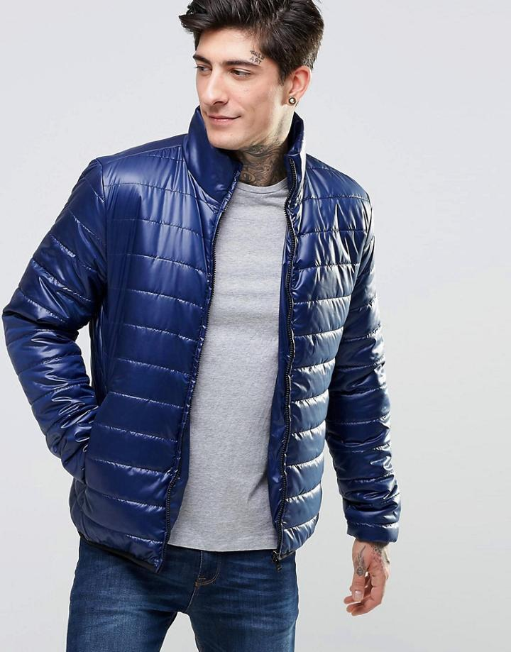 Only & Sons Quilted Jacket - Navy