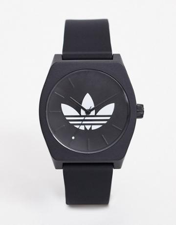 Adidas Sp1 Process Silicone Watch In Black