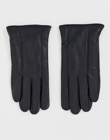 Barneys Original Leather Touchscreen Gloves In Black