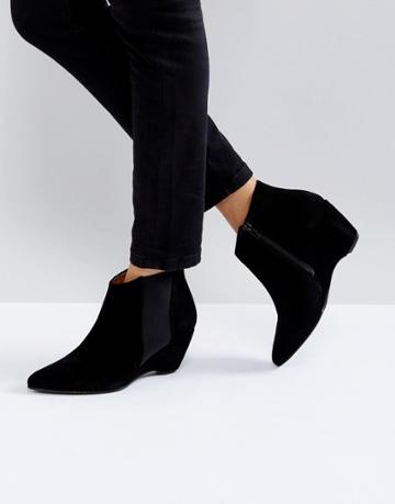 Selected Print Wedge Heel Boot - Black