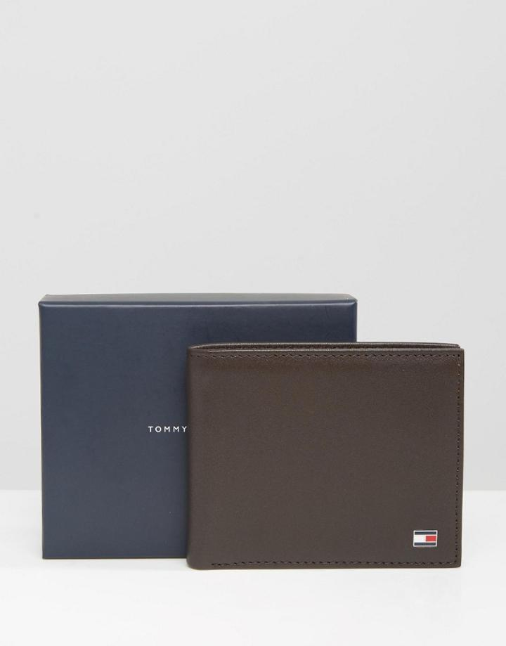 Tommy Hilfiger Eton Mini Billfold Leather Wallet In Brown - Brown