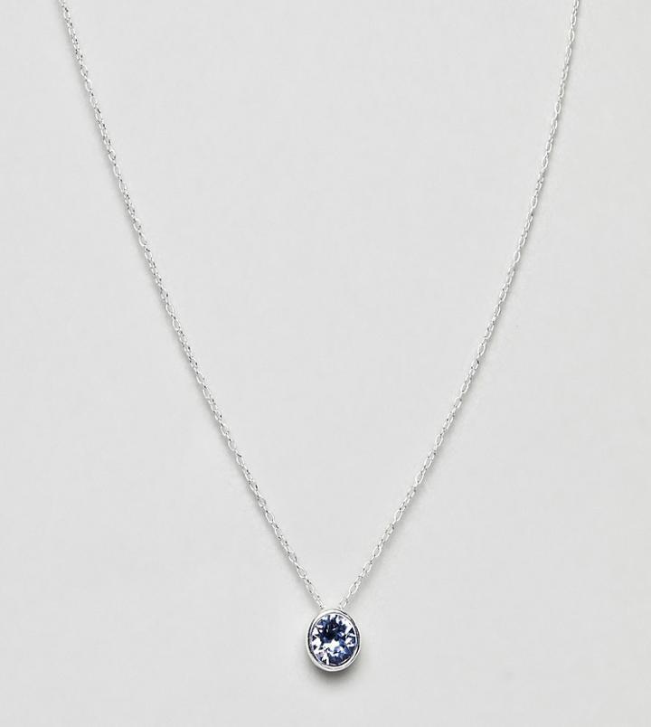 Accessorize Sterling Silver Swarovski Clear Necklace - Silver