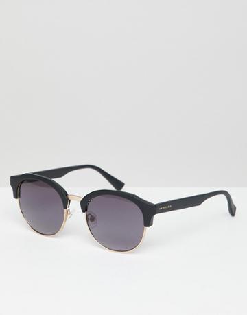 Hawkers Round Rubber Sunglasses In Black - Black