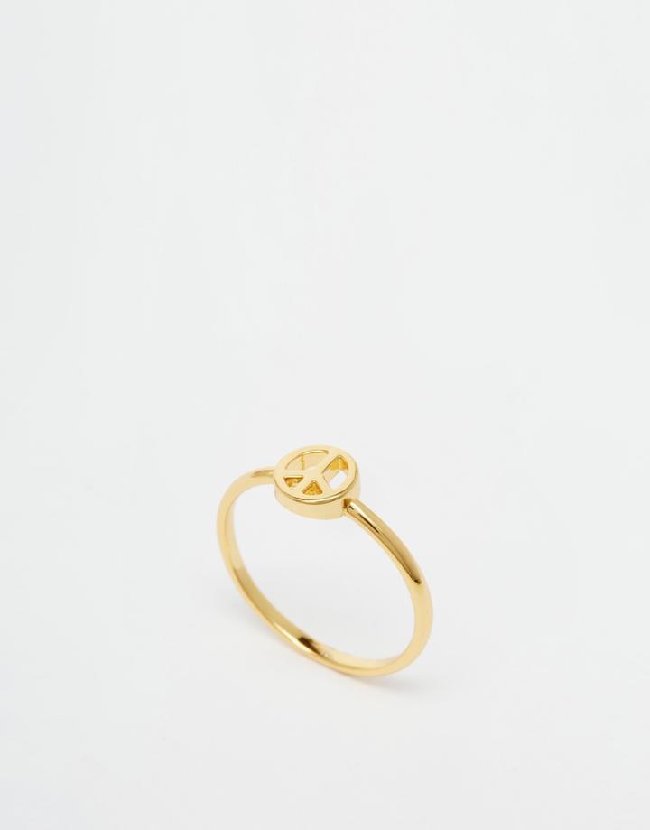 Orelia Mini Peace Ring - Gold