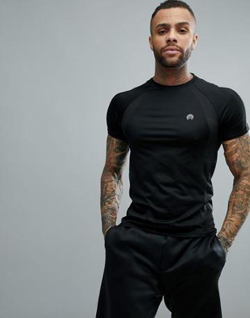 Hiit T-shirt With Mesh In Black - Black