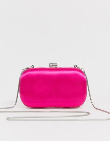 True Decadence Fuschia Satin Clutch Bag