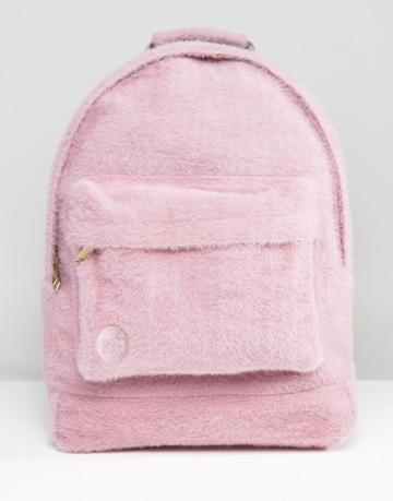 Mi-pac Limited Edition Classic Backpack In Pink Faux Fur - Pink