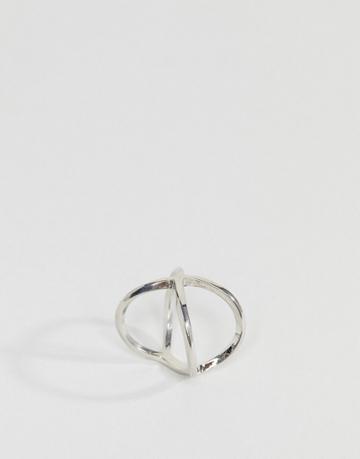 Asos Kiss Ring - Silver