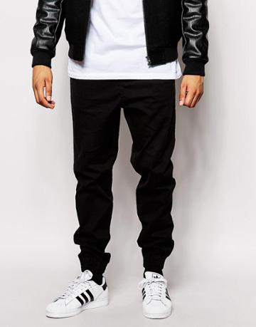 New Look Chino Joggers - Black