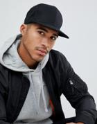 Asos Design Snapback Cap In Black - Black
