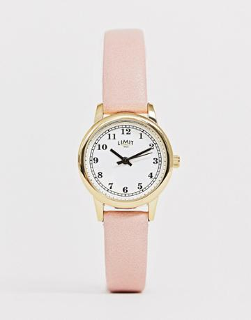 Limit Faux Leather Watch In Pink-purple