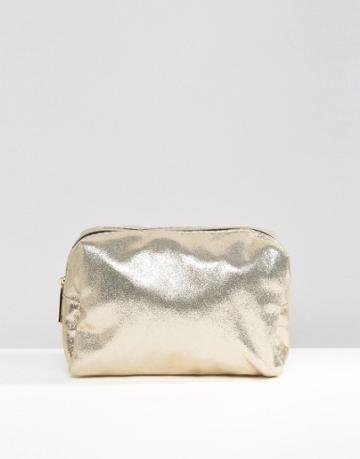 Pimkie Metallic Makeup Bag - Gold