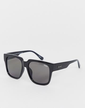 Quay Australia On The Prowl Oversized Square Sunglasses In Black